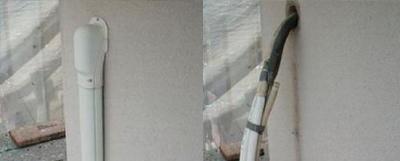 外壁目地の補修・ビニール養生