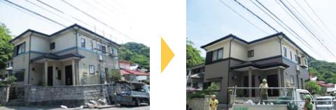 6. 外壁・屋根塗装の施工前・施工後