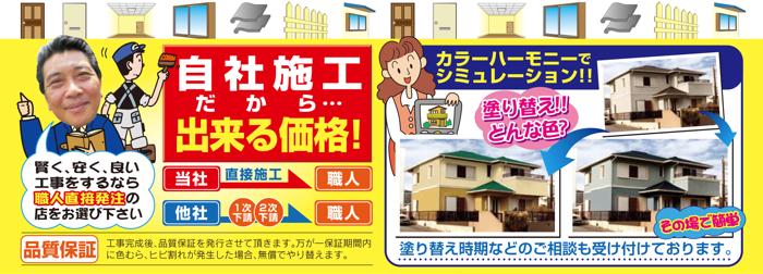 屋根・全面塗装価格表